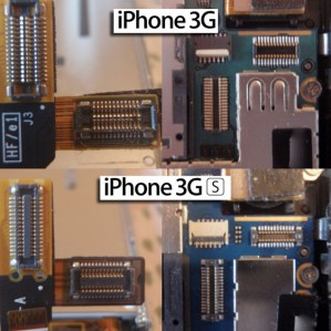 difference between iphone 3g and iphone 3gs digitizer and LCD connections